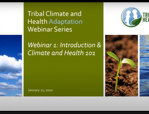 View recordings of our latest Tribal Climate & Health Adaptation Training Series