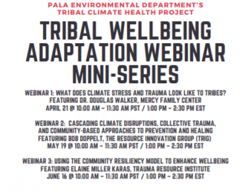 Join us for a Tribal Wellbeing Adaptation Webinar Mini-Series